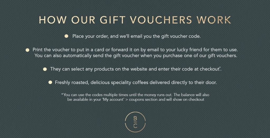 how our coffee gift vouchers work