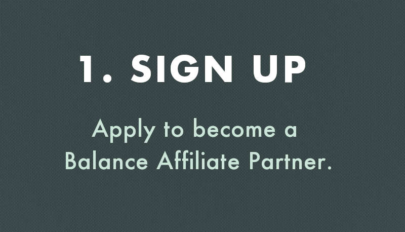 Balance Coffee Affiliate - Sign Up