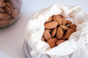 Preparing almond milk