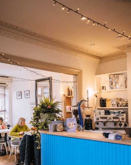This is the coffee lab in Winchester