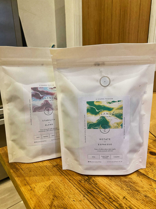 Balance Coffee's new sustainable packaging